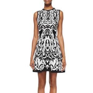 Shoshanna Beck Sleeveless Ikat-Print Dress